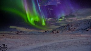 Nordlicht nahe Barentsburg